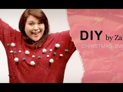 DIY le pull de Noël ❄ #zalandodiy
