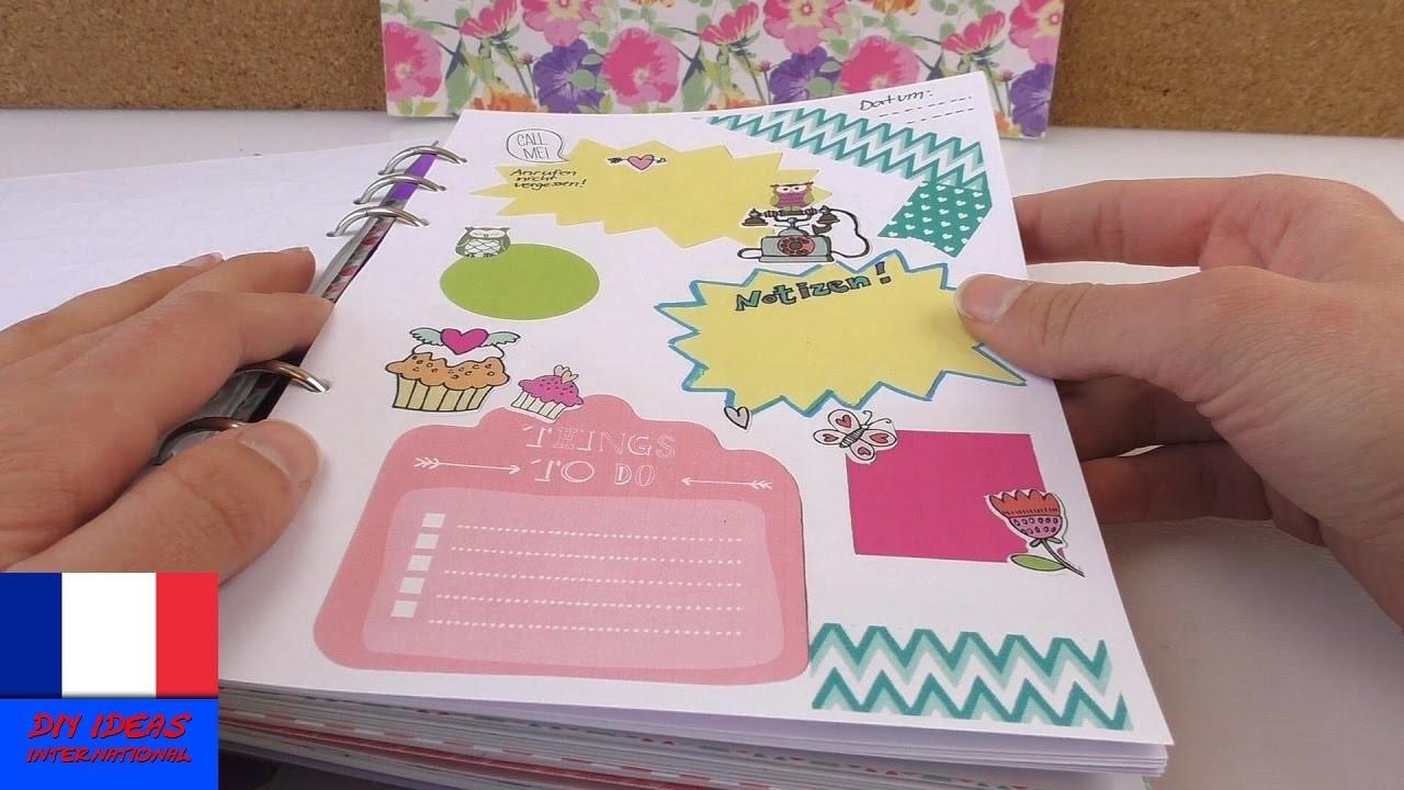 Filofax Idées DIY | Faire une page pour écrire des notes et noter ses rendez-vous | Copies