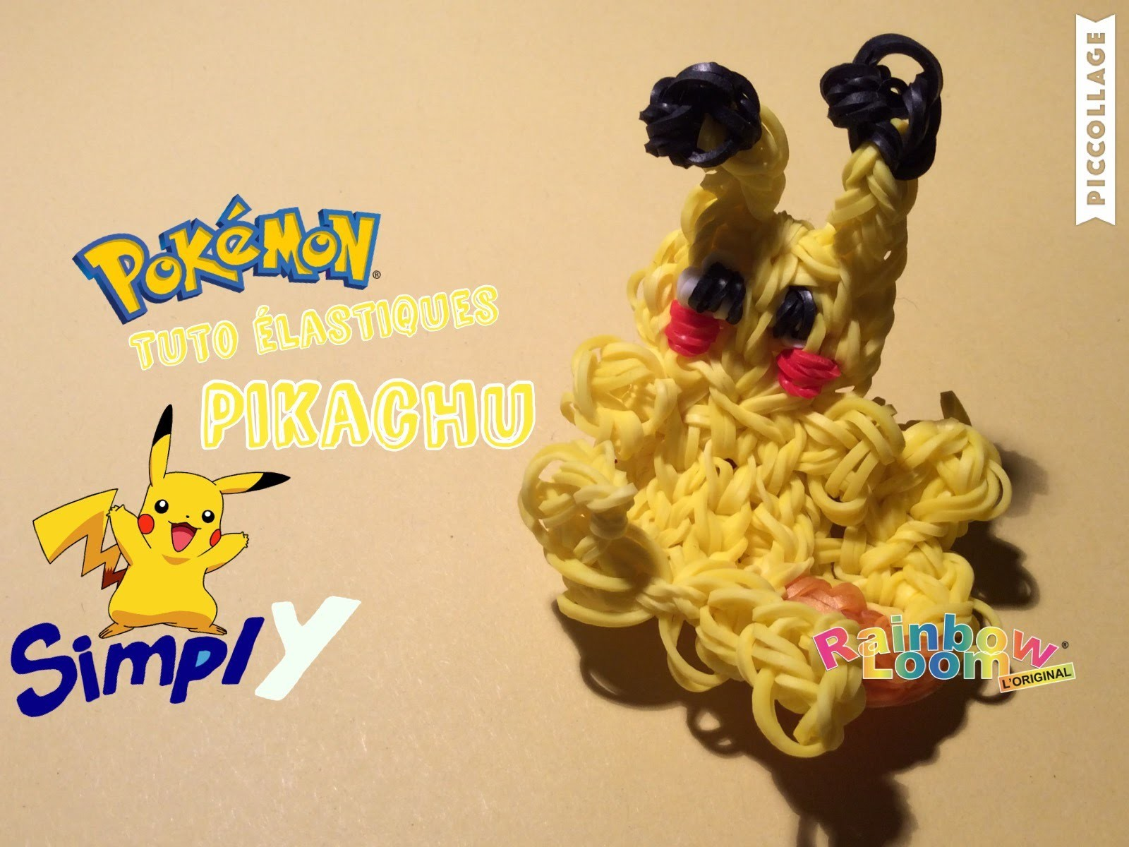 {Tuto élastiques} Pikachu en élastiques Rainbow Loom | Simply