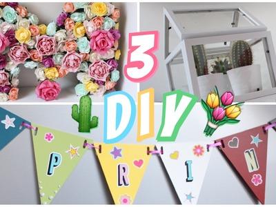 3 DIY déco faciles & pas cher⎨Le printemps dans vos pièces ⎬