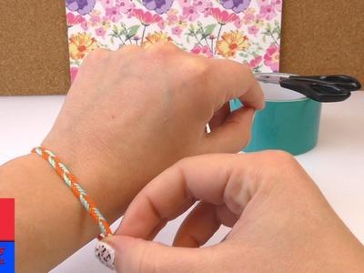 DIY bracelet avec modèle flèche | Un bracelet simple en arrête de poisson