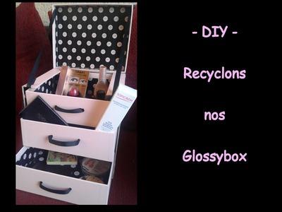 ✿ DIY ✿  Comment réaliser une mini commode avec des Glossybox ✿
