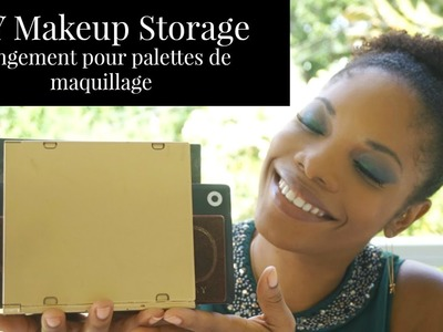DIY: Rangement pour palettes de maquillage - Correspondances d'une Beauty Addict
