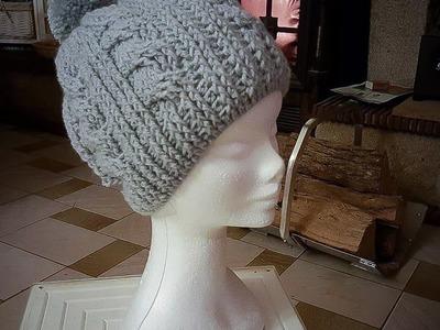 Comment faire un bonnet avec torsades au crochet ( 2eme partie)