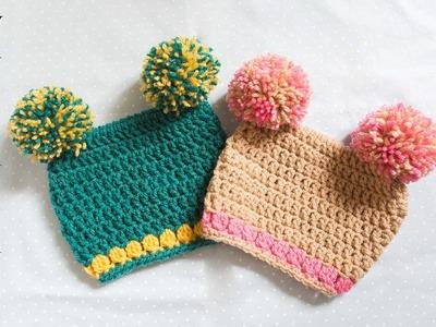 Comment faire un bonnet bouffon au crochet ( facile débutant )