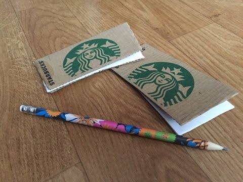 DIY Notebook - Starbucks