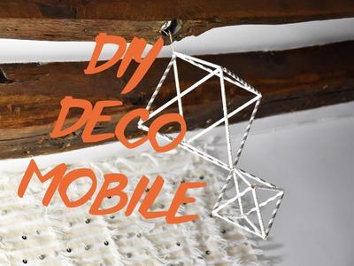 DIY DÉCO : MOBILE DESIGN (avec des pailles)