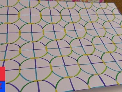 Papier à motifs à faire soi-même | DIY avec compas, crayons et feutres
