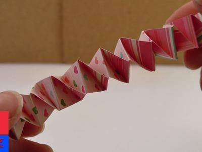 Accordéon en papier à faire soi-même | DIY Kids | Idée de pliage