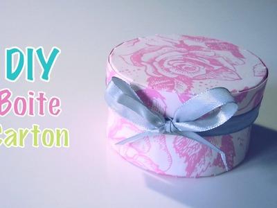 DIY Boite en carton et papier.Cadeau.Bijoux.Dragées