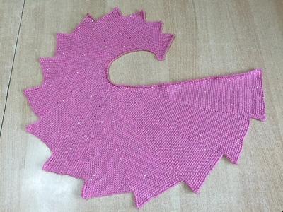 Tuto châle triangle au crochet  special gaucher 1.2