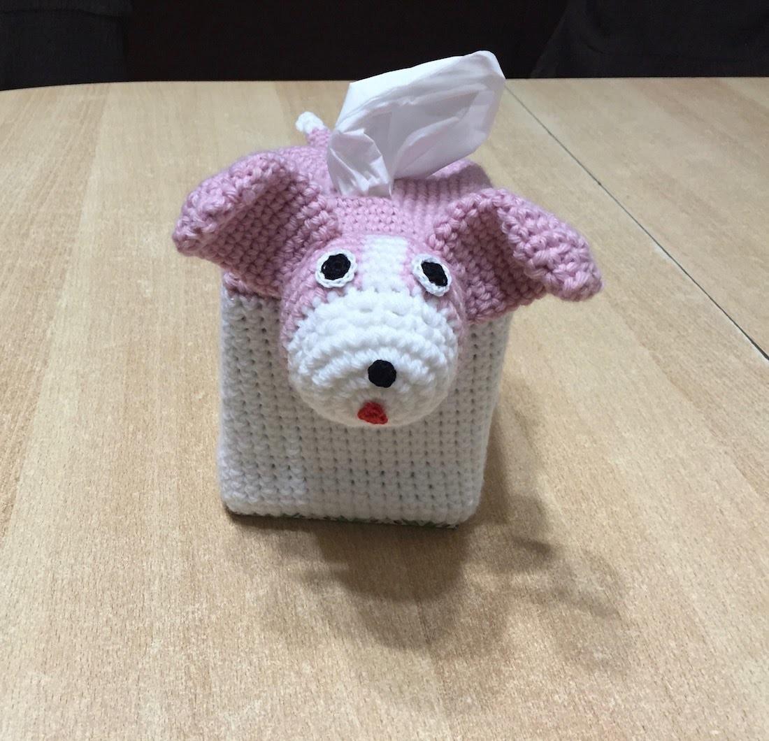 Tuto house boite a mouchoirs chien au crochet sp cial - Boite a mouchoirs casa ...