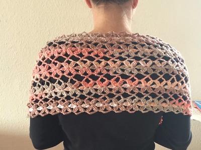 Tuto motif au crochet pour étole, écharpe etc