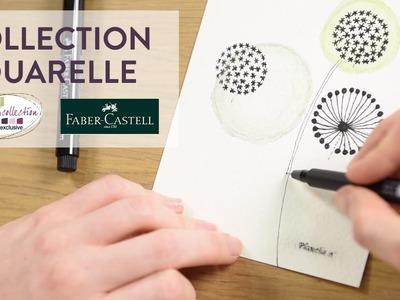 Tutoriel DIY : Motifs aux feutres et crayons avec effets aquarellés - Cultura Creativ 2016