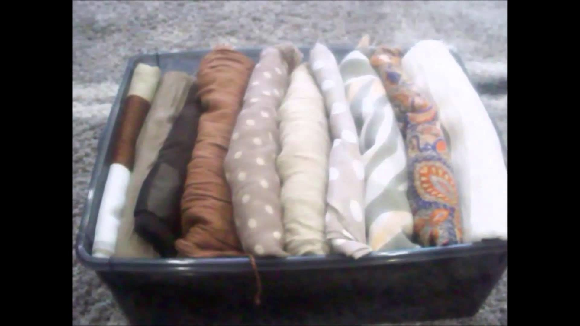Comment ranger foulards, écharpes( How to organize scarves)