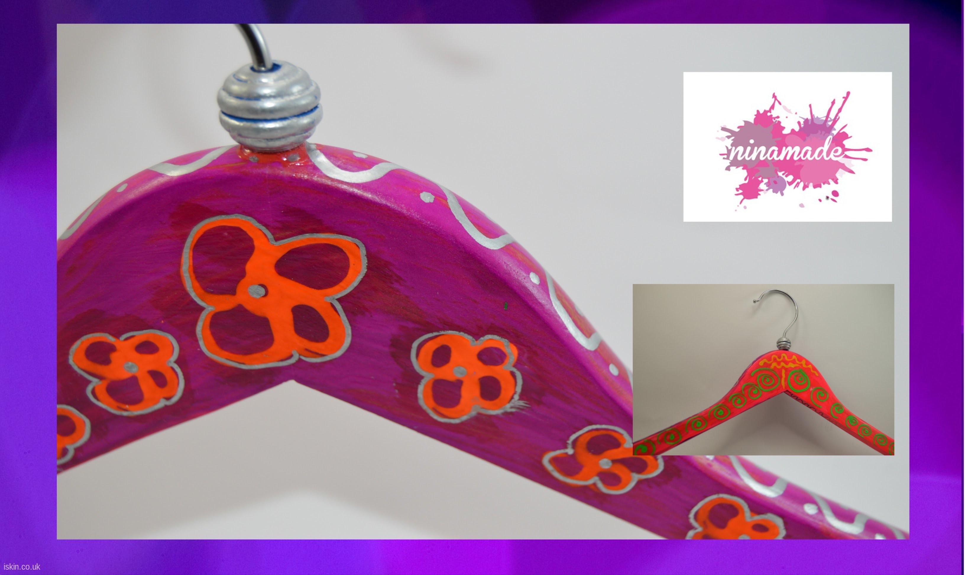 """DIY.Comment décorer un cintre.Idée""""Fêtes de Pères"""".How to decorate a hanger""""Father's day"""""""