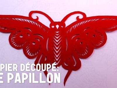 Découpage traditionnel chinois : Le Papillon - HD