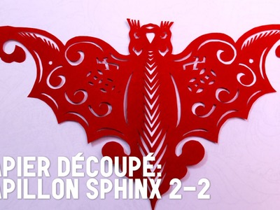 Découpage traditionnel chinois : Papillon Sphinx 2-2 - HD