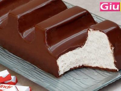 Gâteau façon barette kinder chocolat géante