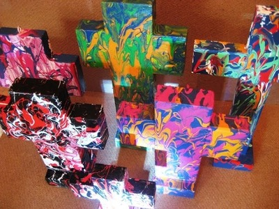 How to make a wooden Artistic Cross using acrylic colors - Abstract art