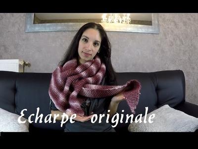 Tricoter une écharpe originale. pfeilraupe. knit a beautiful scarf easy