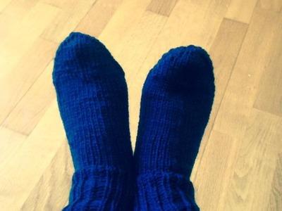 Tutoriel tricot chaussettes adultes.Socks tutorial knit.Calze adulti maglia