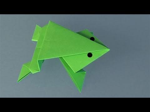 une grenouille en papier comment faire origami. Black Bedroom Furniture Sets. Home Design Ideas