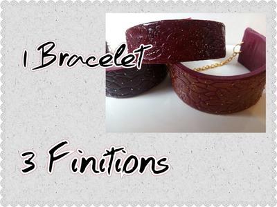 1 Bracelet. 3 Finitions (Tuto Fimo)