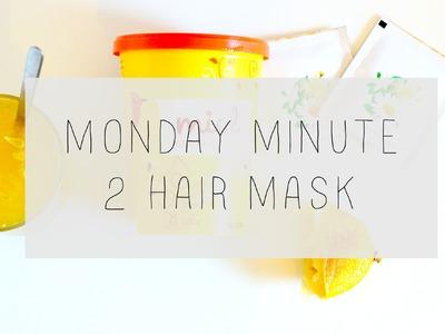 2 masques capillaires maison : Cheveux abîmés et masque éclaircissant l MONDAY MINUTE