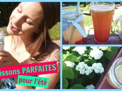 3 boissons PARFAITES pour l'été! ☼