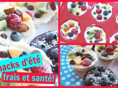 3 snacks d'été frais et SANTÉ! ☀