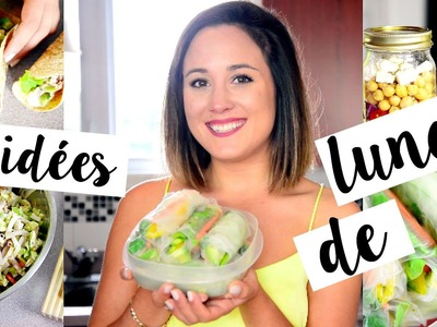 4 IDÉES DE LUNCH | BACK TO SCHOOL 2015