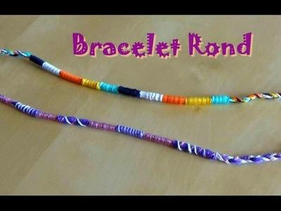 Bracelet brésilien rond facile (atébas) débutant