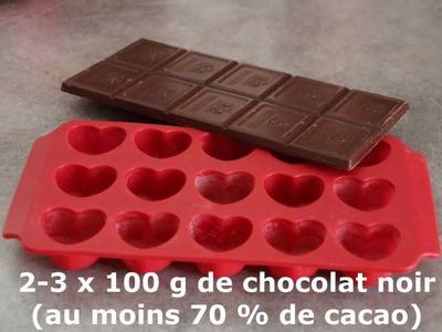 Chocolats coeur caramel au beurre salé