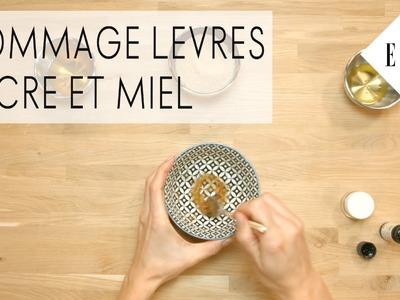 DIY : Comment faire un gommage des lèvres au sucre et au miel - ELLE Beauté