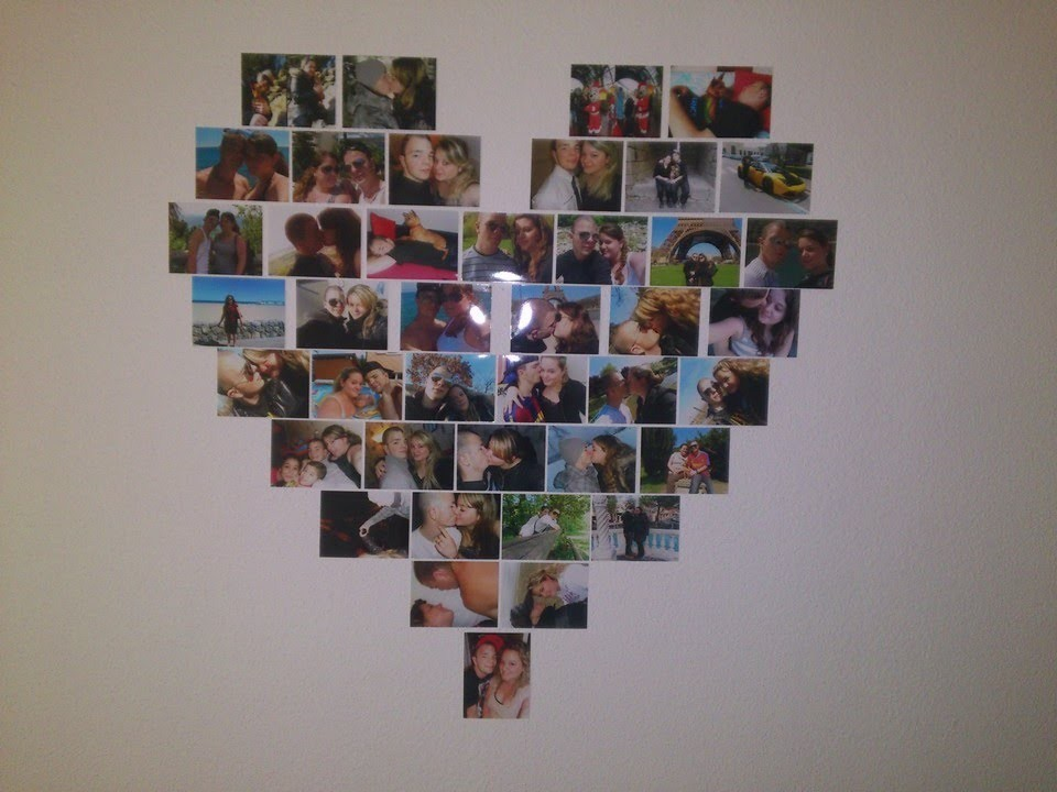 DIY : Déco, photos en coeur !