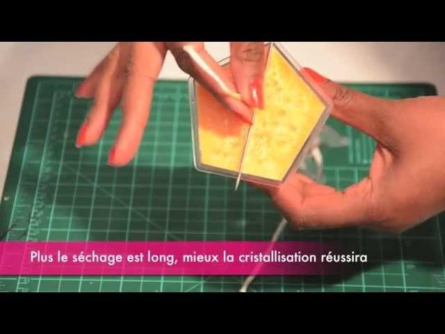 Fabrication d'une bougie avec effets cristal
