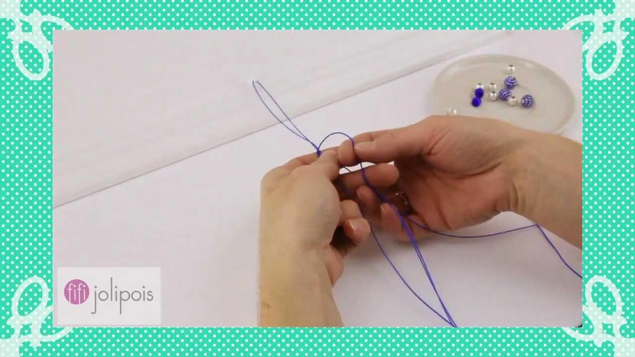 Fifi Jolipois Tutorial 7: Comment faire un bracelet shamballa.