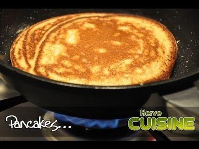 Recette facile des pancakes moelleux par Hervé Cuisine