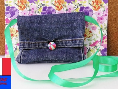 Recycler un jeans. Transformer un jeans en sac ou en porte-monnaie