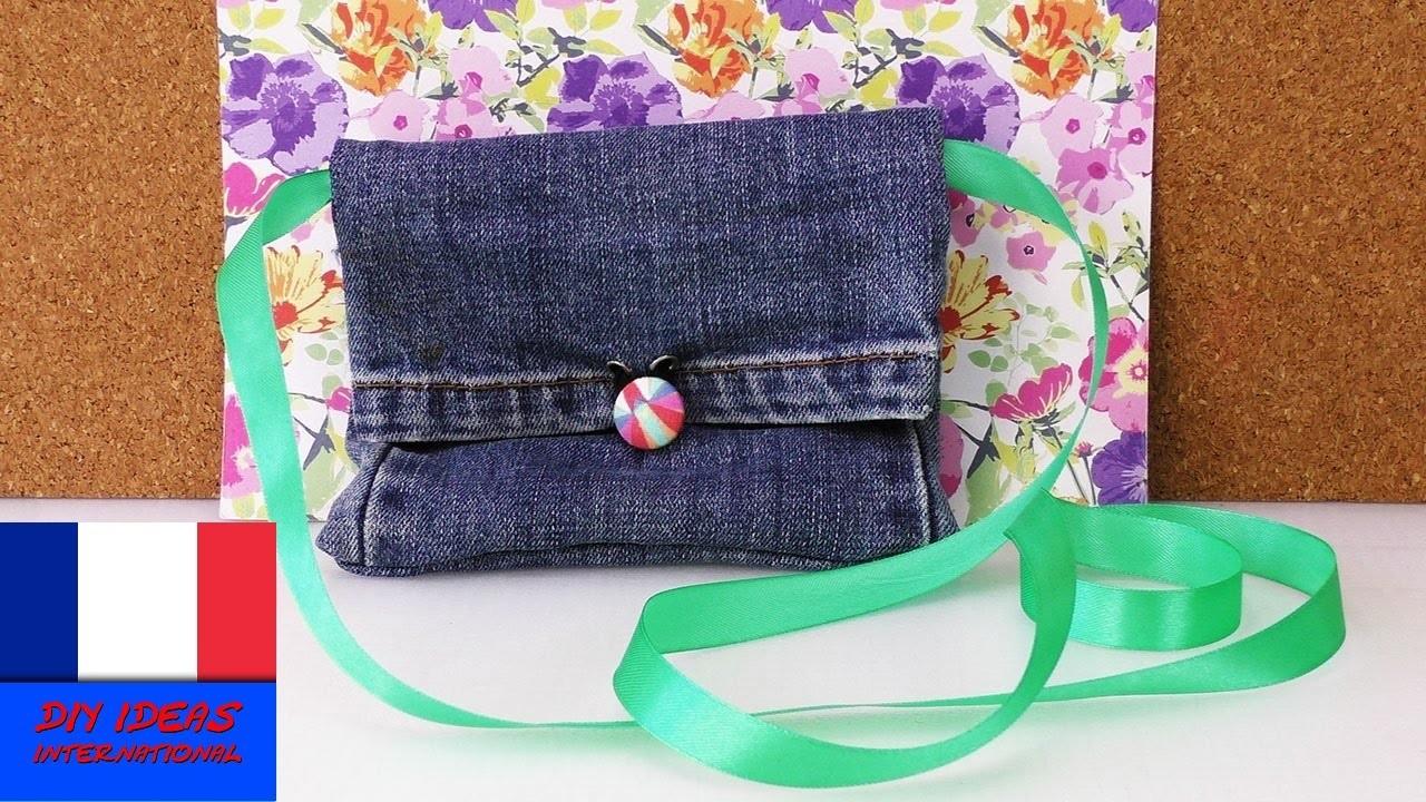 recycler un jeans transformer un jeans en sac ou en porte monnaie. Black Bedroom Furniture Sets. Home Design Ideas