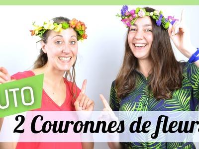 Tutoriel : 2 Couronnes de fleurs facile