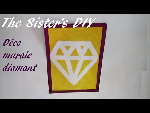 Décoration murale diamant-The Sister's DIY