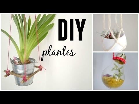 ✿ DIY ✿ 3 plantes suspendues ❀
