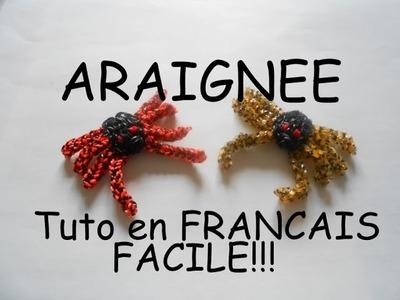ARAIGNEE en ELASTIQUE LOOM TUTORIEL en FRANCAIS