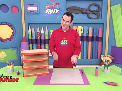 Art Attack - Technique du range papier - Disney Junior - VF