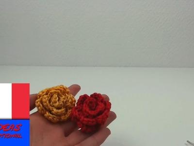 Crocheter une rose. facile et joli. Décoration pour chapeau