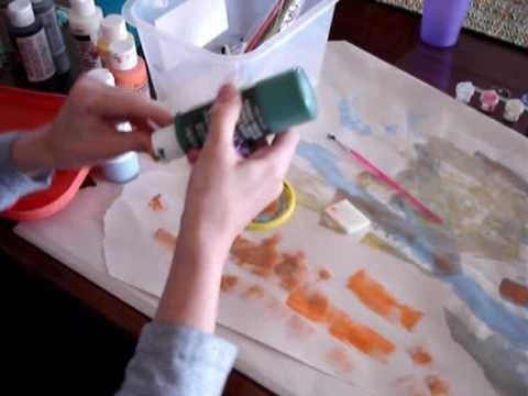 La peinture sur un tapis (l.p.s)