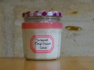 """Masque capillaire nutri-réparateur """"simplissime"""" (recette Aroma-Zone)"""