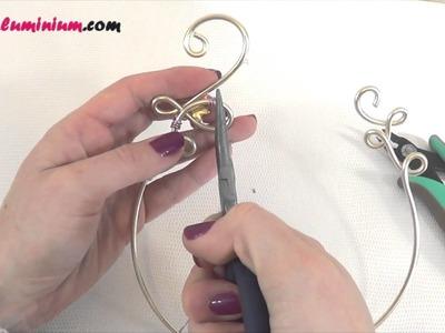 ► [ TUTO ] Collier mariage en fil aluminium